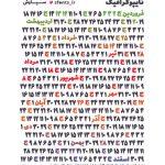 گاهشمار تایپوگرافیک سال ۱۳۹۹ با فونتهای رویای سنگین پلاس، چله و رویای سیاه (طراح: شهاب سیاوش)